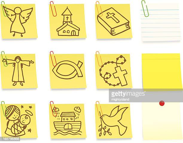 Religiosas pós-Nota conjunto de ícones