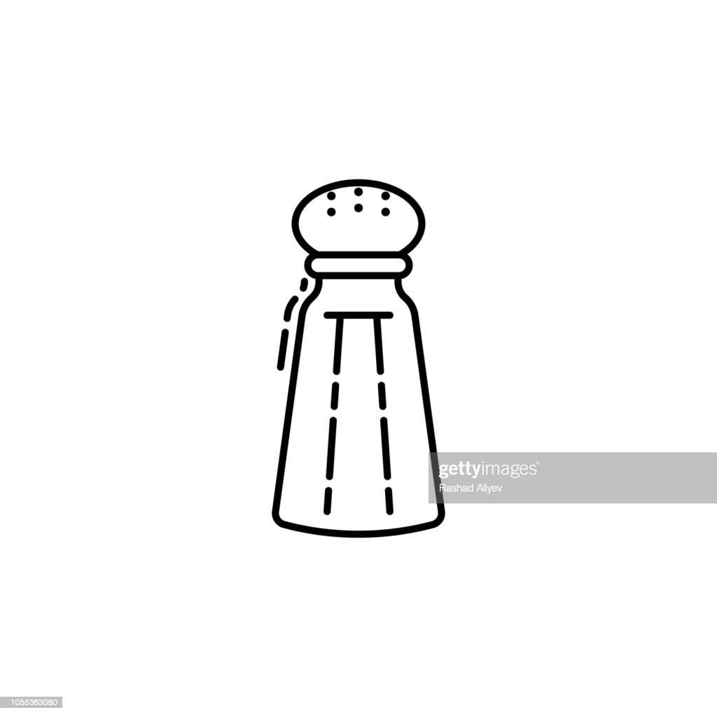 Religious Salt icon. Element of Jewish icon for mobile concept and web apps. Thin line Religious Salt icon can be used for web and mobile