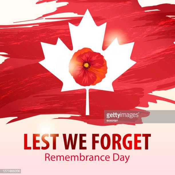 ilustraciones, imágenes clip art, dibujos animados e iconos de stock de día del recuerdo canadá - primera guerra mundial