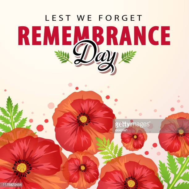 remembrance day ceremony - anzac soldier stock illustrations