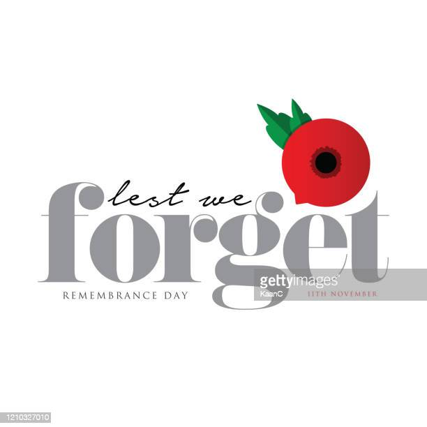 remembrance day vector card, banner anzac day. stock illustration - armistice day stock illustrations