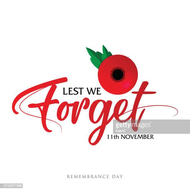 remembrance day vector card, banner anzac day. stock illustration - remembrance day stock illustrations