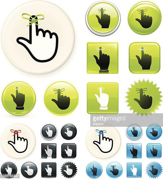 reminder icons on buttons - string stock illustrations