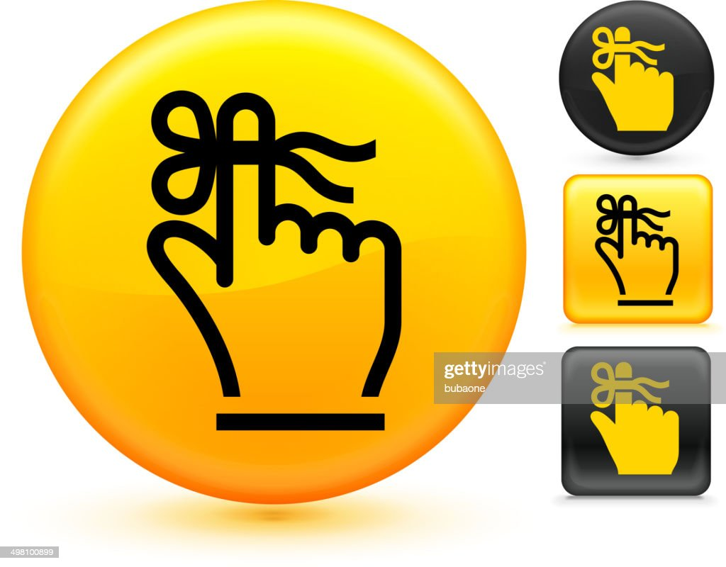 Reminder royalty free vector art on Yellow Button Set