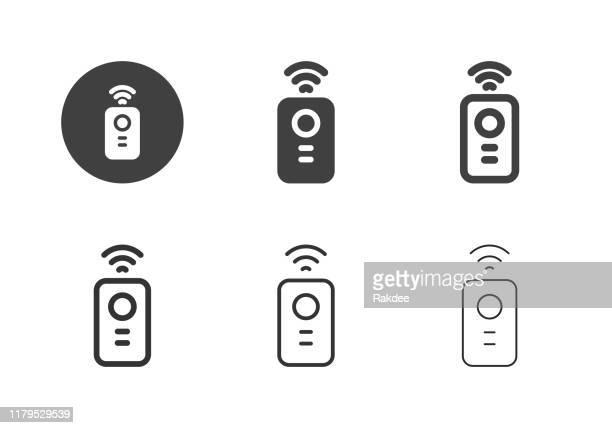 illustrazioni stock, clip art, cartoni animati e icone di tendenza di icone di controllo remoto - serie multi - controllato a distanza