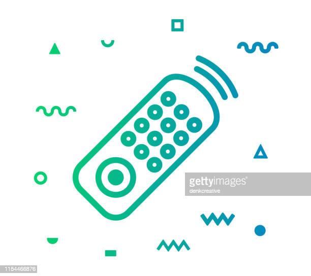 remote control line style icon design - remote control stock illustrations