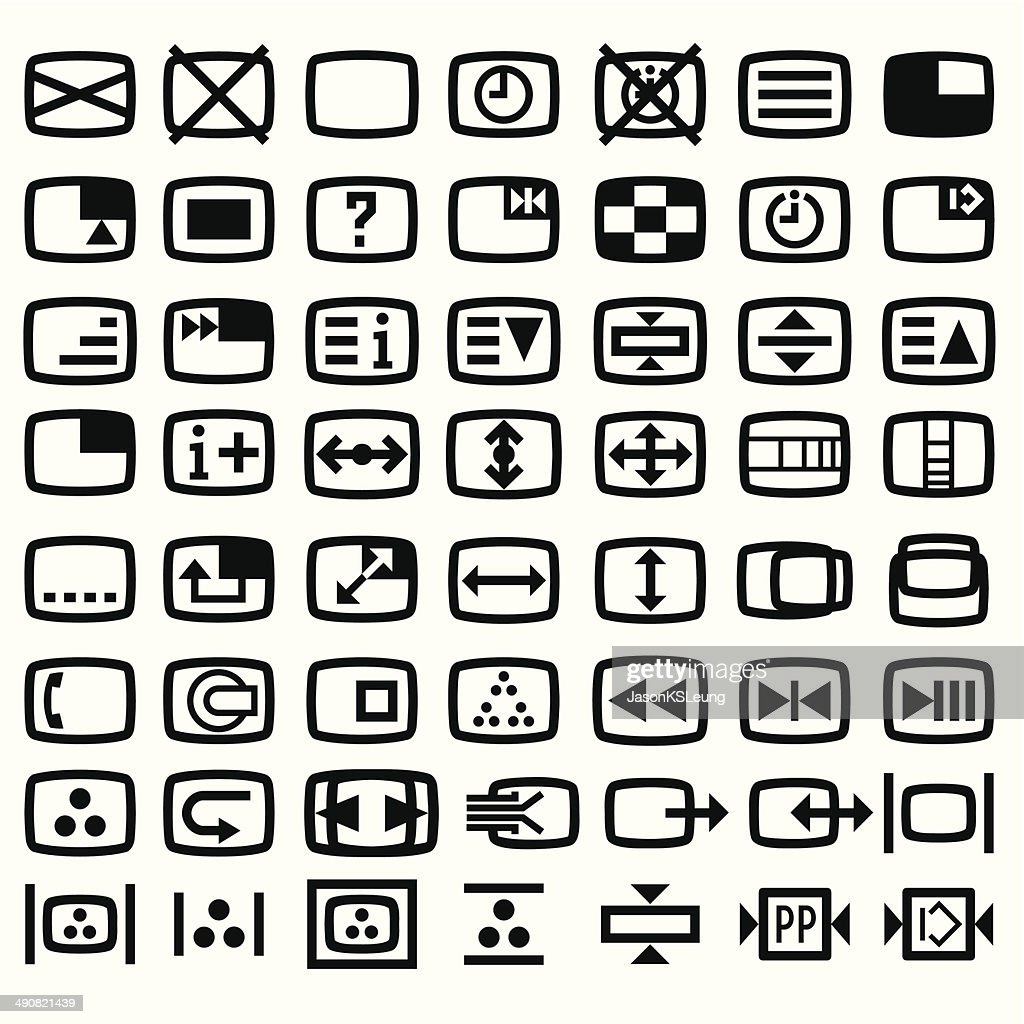 Remote Control Teletext Icon- Vector