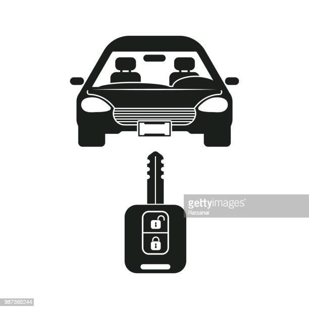 remote key car - car key stock illustrations, clip art, cartoons, & icons