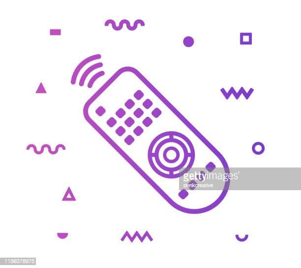 TV Remote Line Style Icon Design