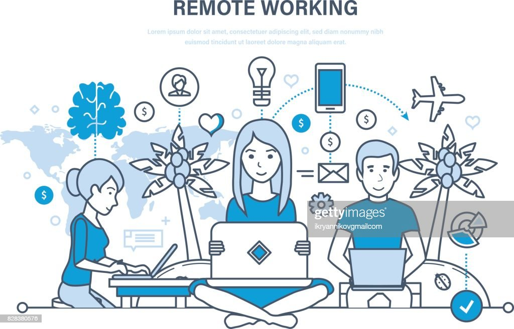 Remote working, freelancer, information technology, workplace, tools freelancer, working space