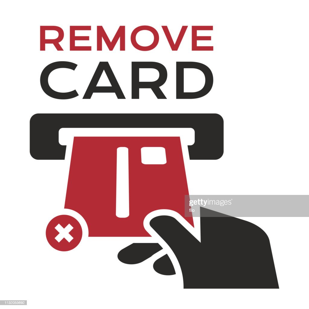 Remove Credit Card : stock illustration