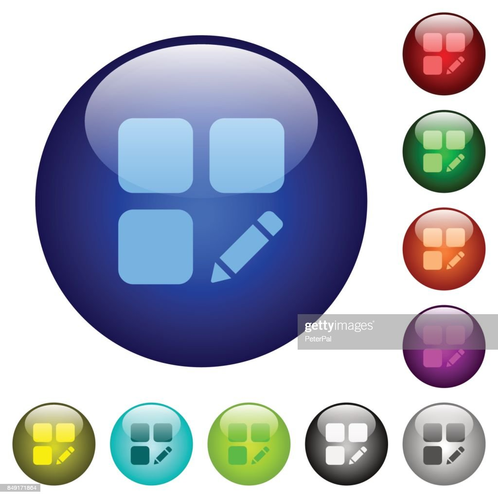 Rename component color glass buttons