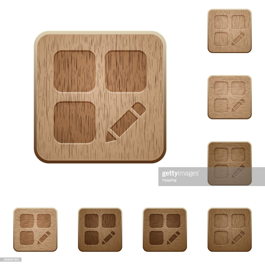 Rename component wooden buttons