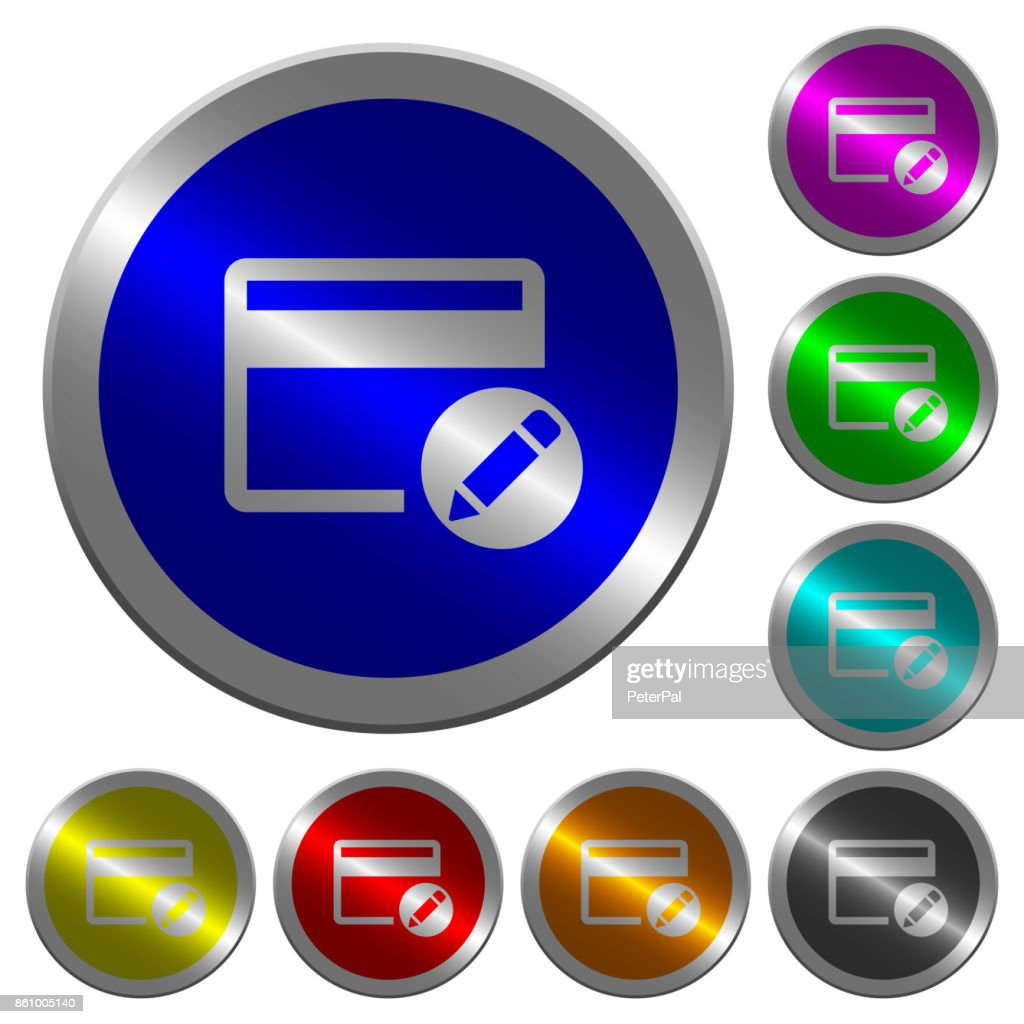 Rename credit card luminous coin-like round color buttons
