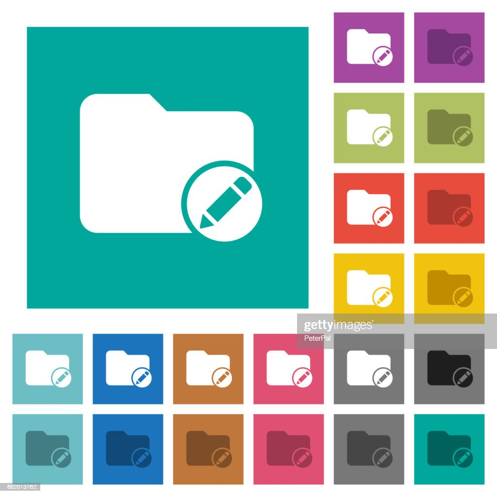 Rename directory square flat multi colored icons