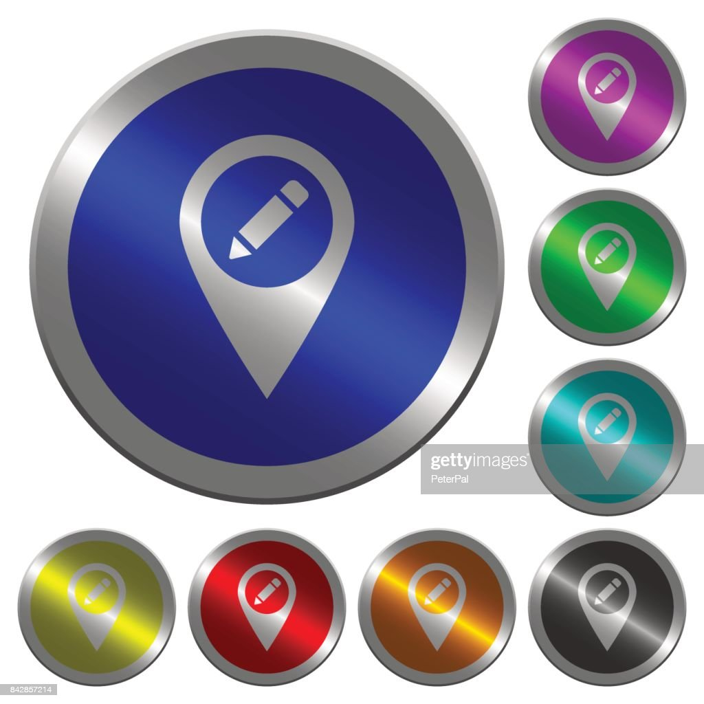 Rename GPS map location luminous coin-like round color buttons