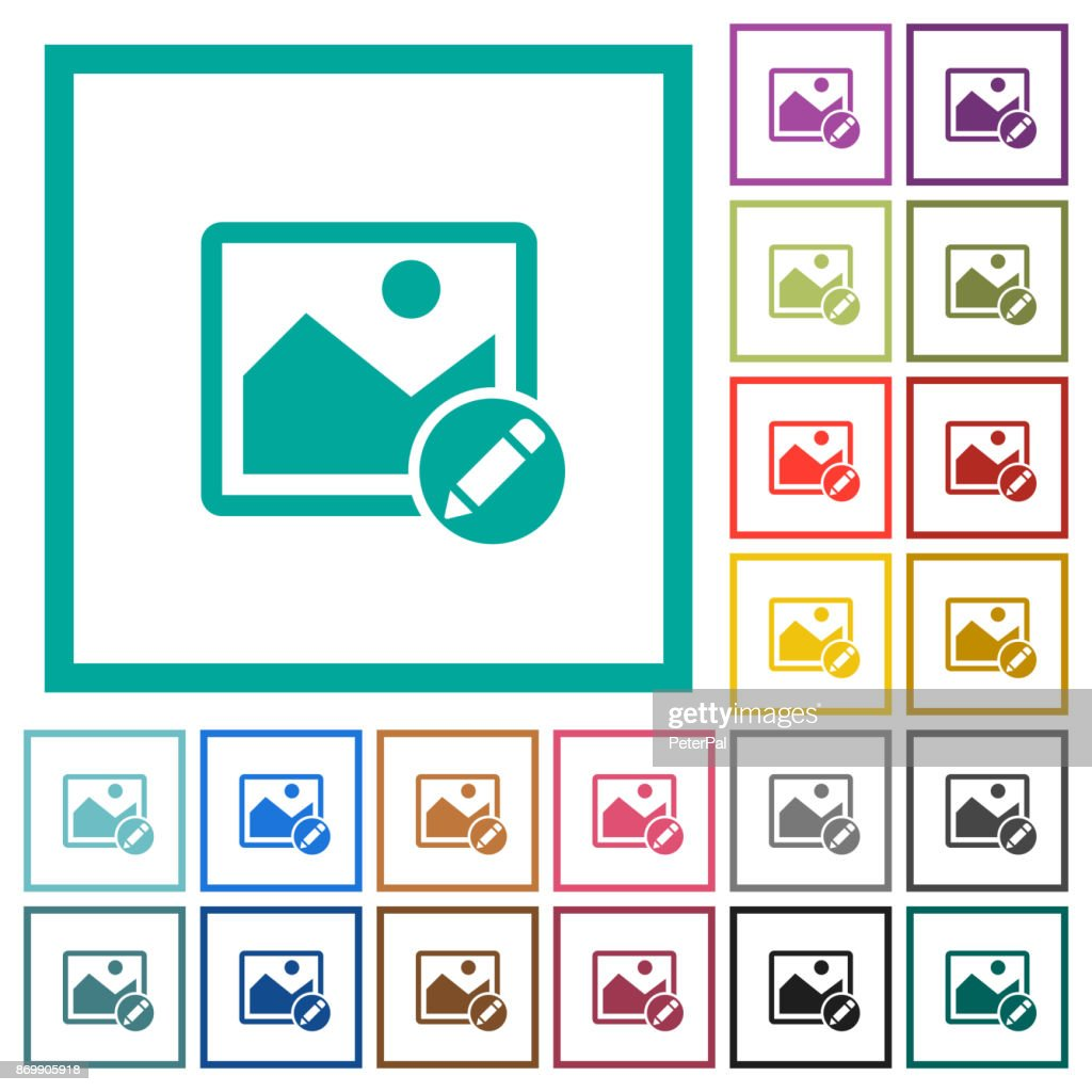 Rename image flat color icons with quadrant frames