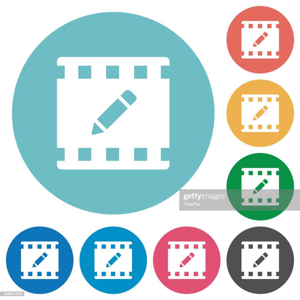 rename movie flat round icons