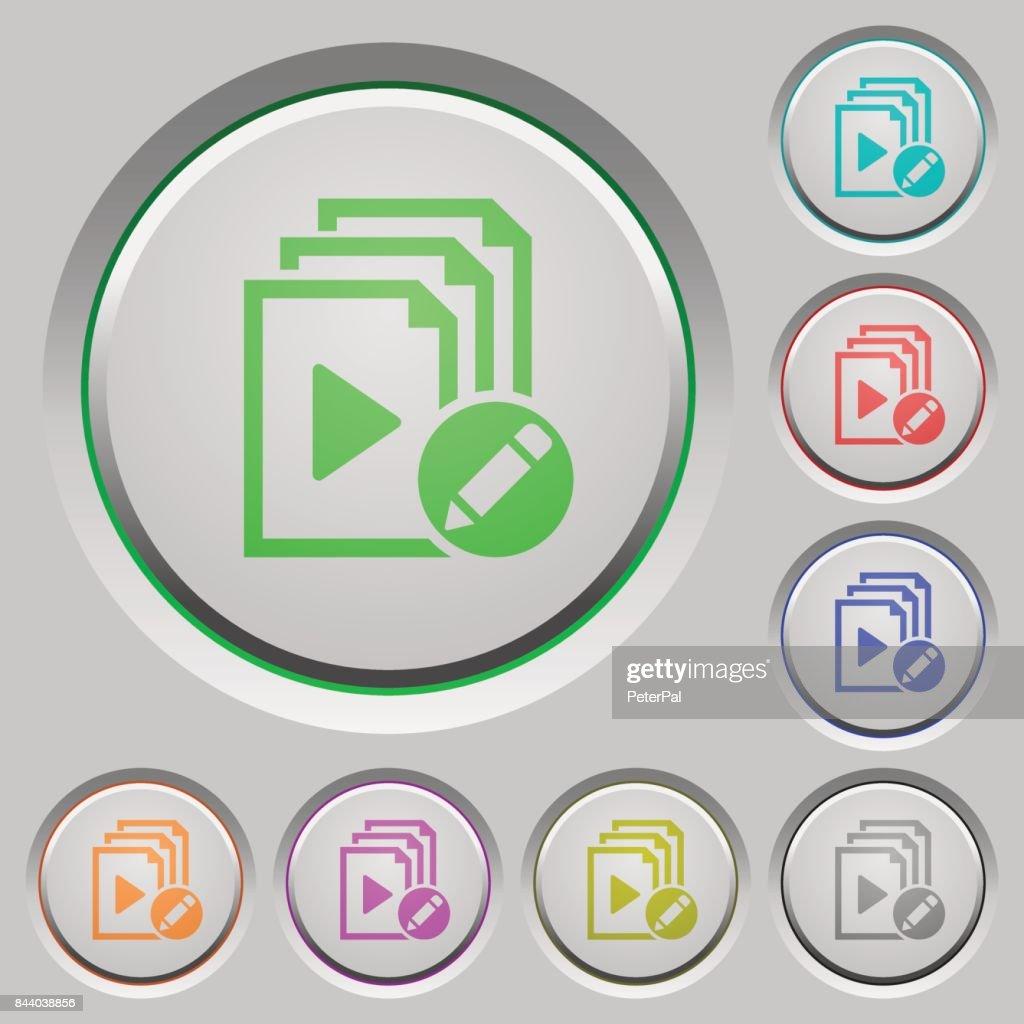 Rename playlist push buttons