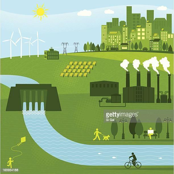 bildbanksillustrationer, clip art samt tecknat material och ikoner med renewable energies - generator
