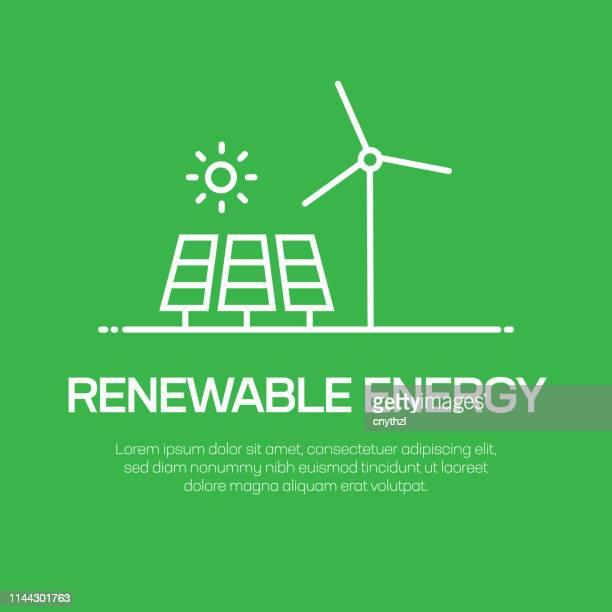 renewable energy vector line icon - simple thin line icon, premium quality design element - alternative lifestyle stock illustrations