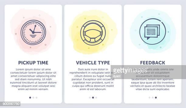 ilustraciones, imágenes clip art, dibujos animados e iconos de stock de alquilar un automóvil - alquiler de coche