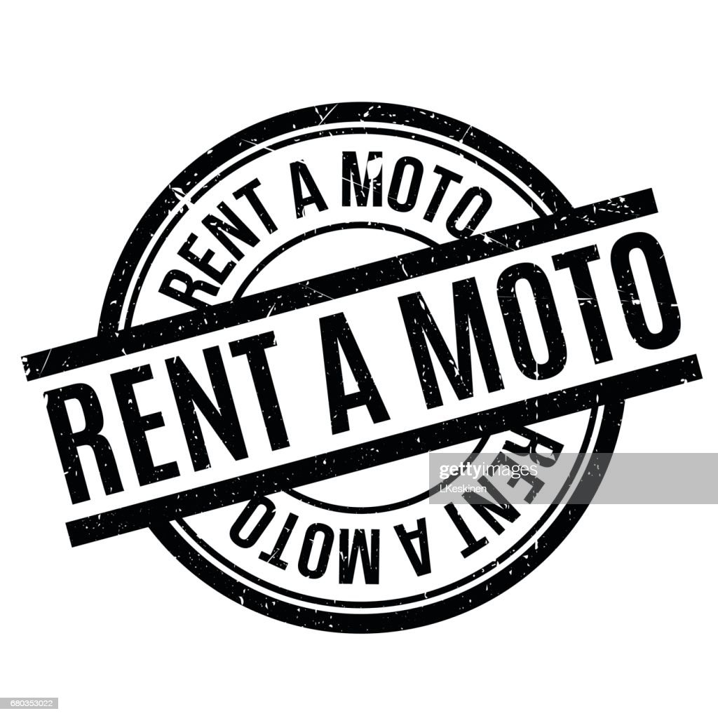 Rent A Moto rubber stamp