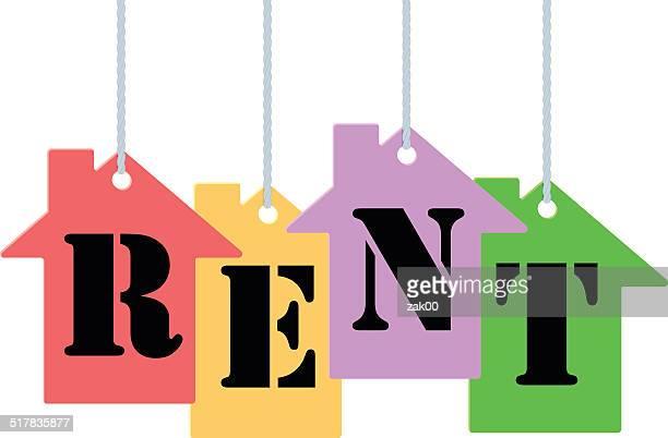 タグのレンタル - 借家点のイラスト素材/クリップアート素材/マンガ素材/アイコン素材