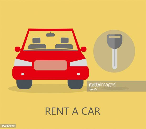 rental car - car ownership stock illustrations, clip art, cartoons, & icons