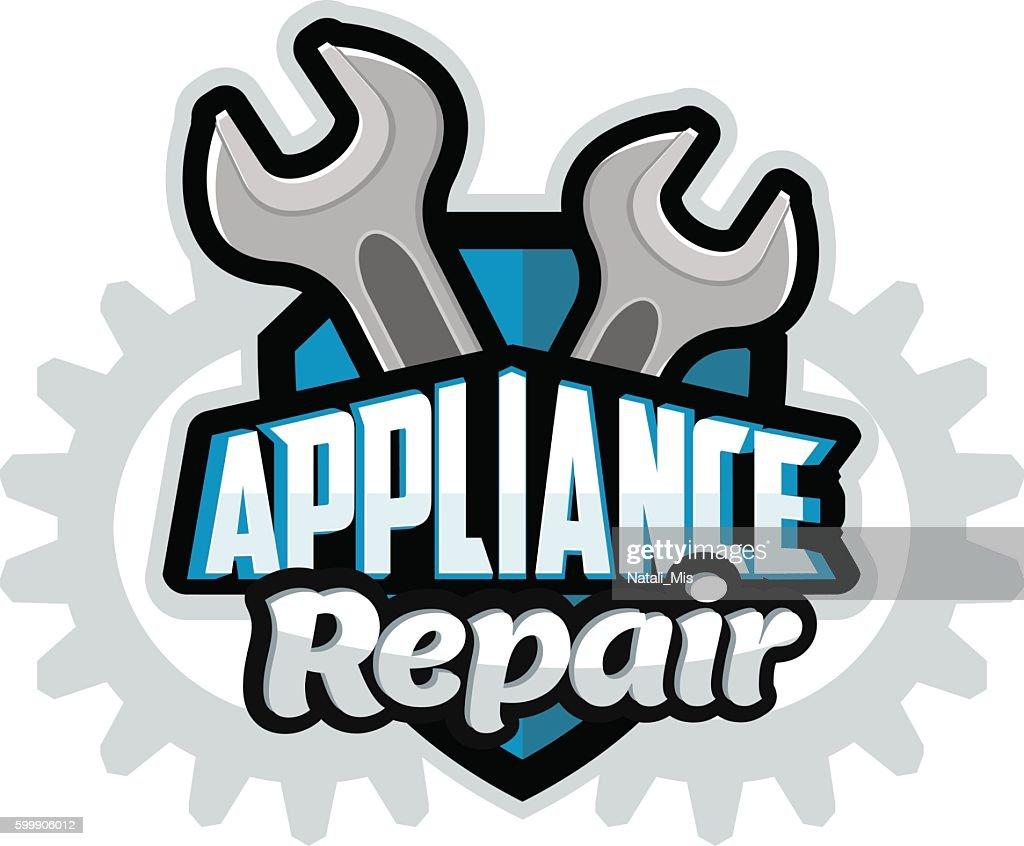 Repair appliances logo blue