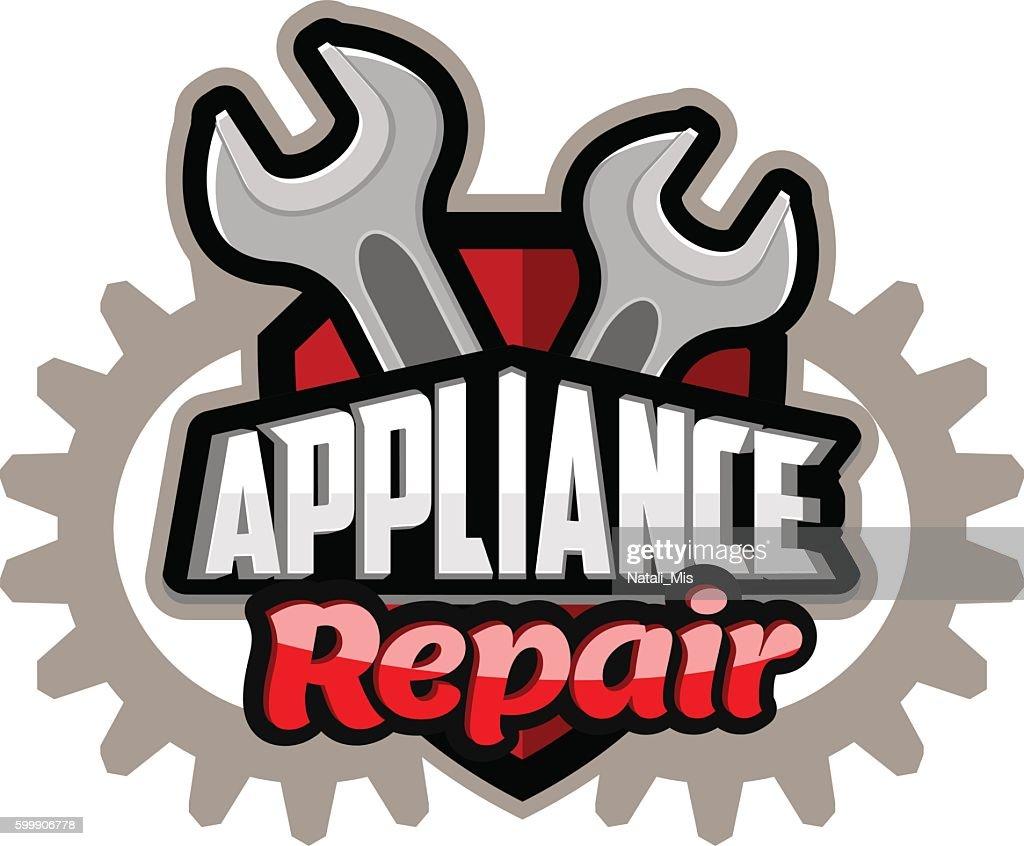 Repair appliances logo red
