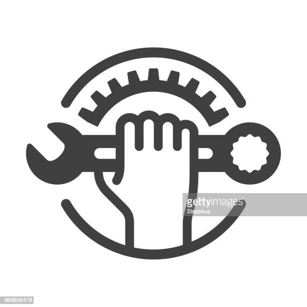 repair icon - work tool stock illustrations
