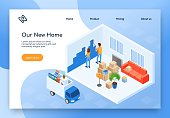 Repair in New House Isometric Vector Web Banner