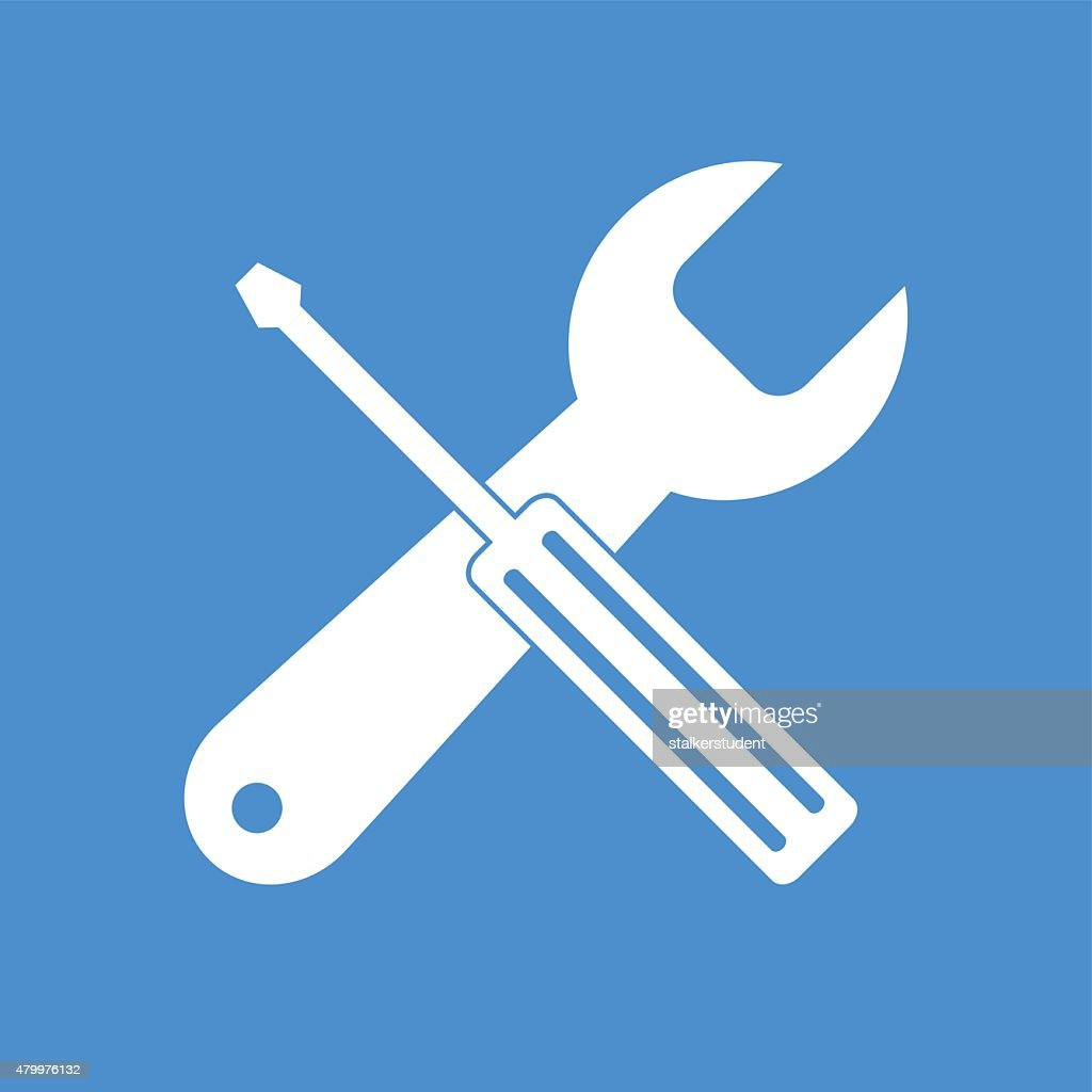 Repair . Service  simbol. Tools singn.