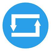Repeat, repost, refresh, reload, reply button. Vector icon