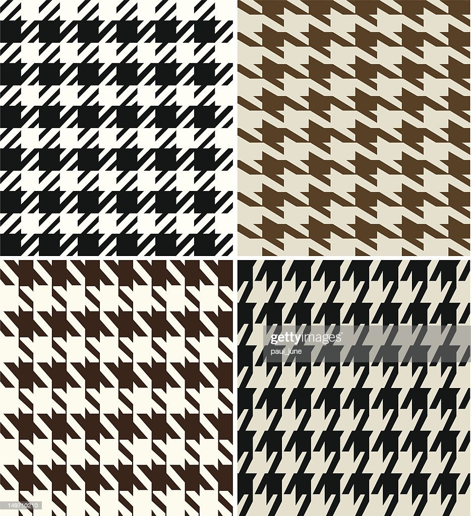 Repeated Houndstooth Fabric