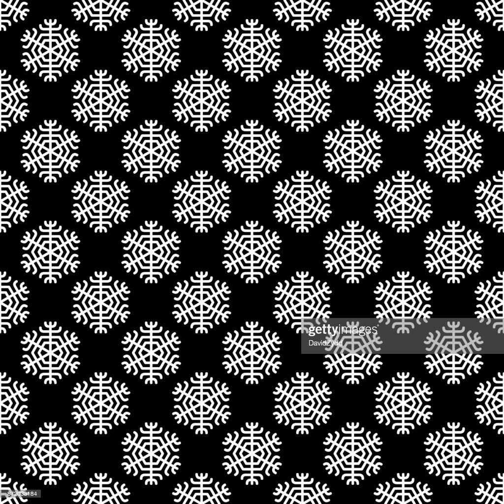 Wiederholung Geometrisch Stilisierte Schneeflocke Muster Tapete ...