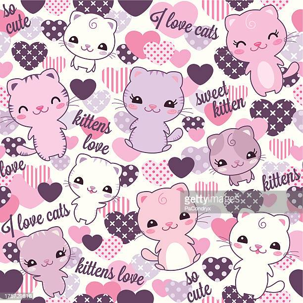 Repeating Kittens pattern