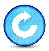 Reply arrow icon galaxy cyan blue round button