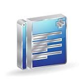 Report 3d Glossy Vector Icon Design
