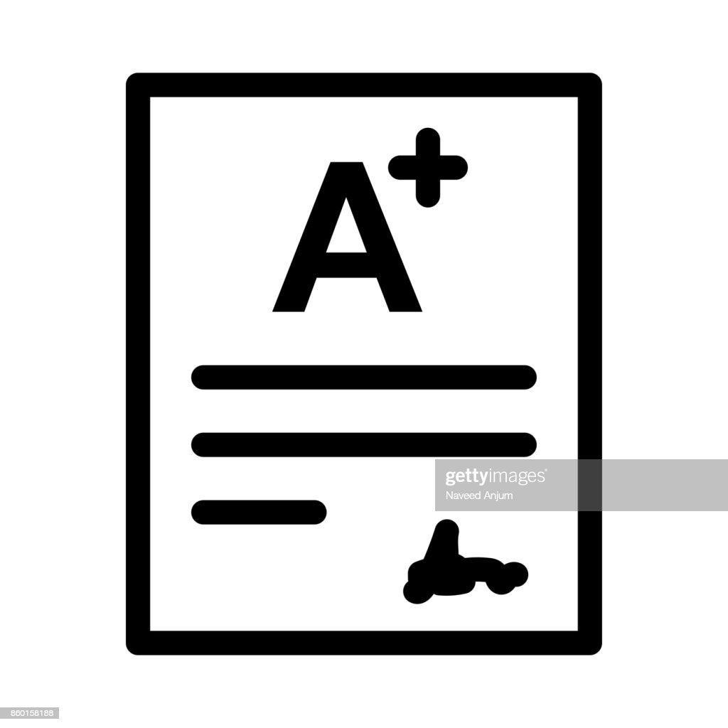 report card Vector Thin Line Icon