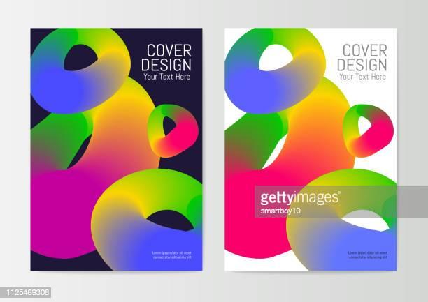 ilustraciones, imágenes clip art, dibujos animados e iconos de stock de plantilla de diseño de carátula del informe - doble exposicion negocios
