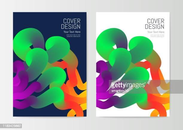 ilustraciones, imágenes clip art, dibujos animados e iconos de stock de plantilla de diseño de portada de informe - doble exposicion negocios