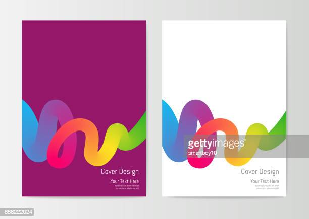 report cover design template - flyer leaflet stock illustrations