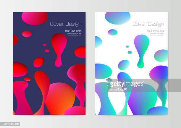 report cover design template - molten stock illustrations, clip art, cartoons, & icons