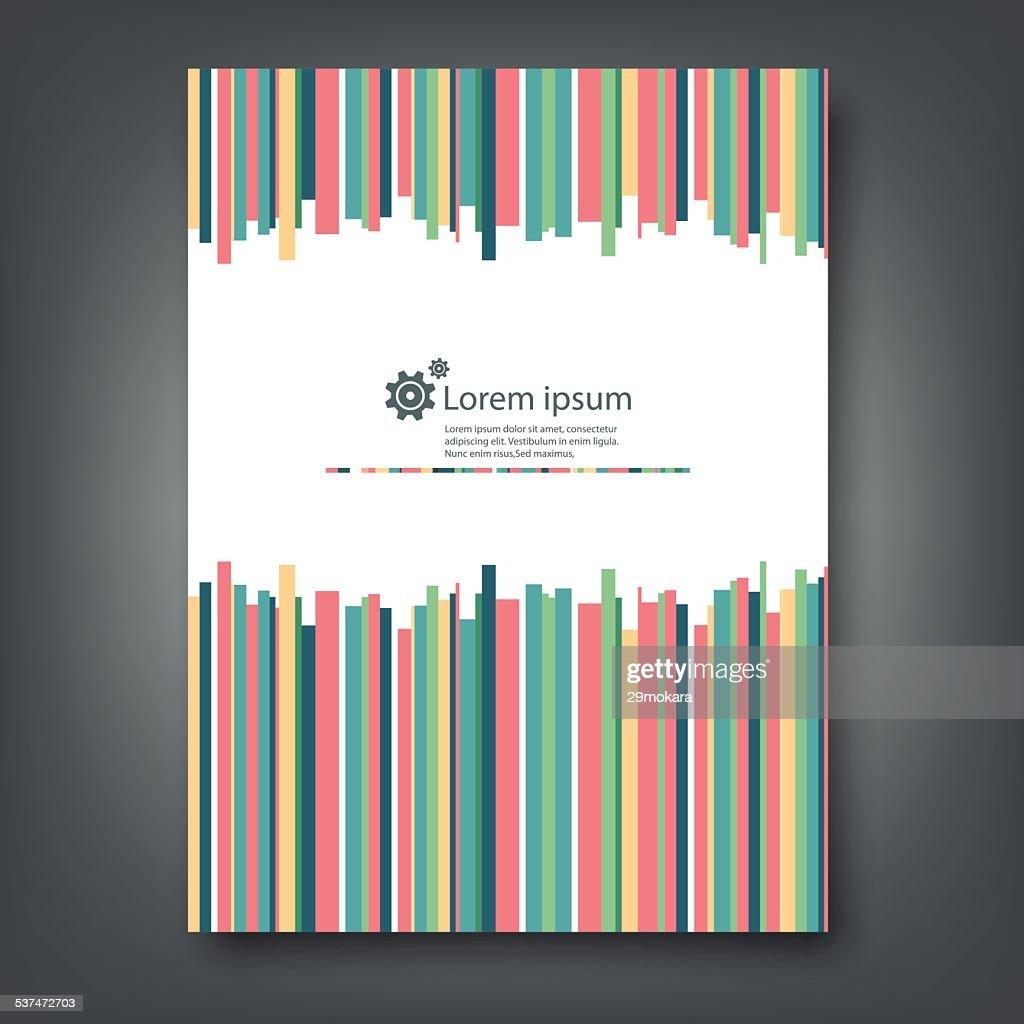 Report template colorful design