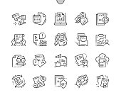 Report Well-crafted Pixel Perfect Vector Thin Line Icons 30 2x Grid for Web Graphics and Apps. Simple Minimal Pictogram
