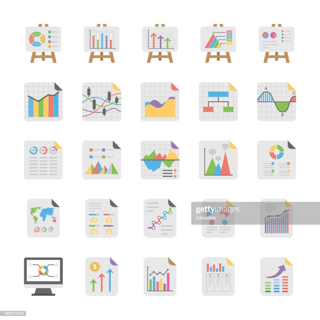 Reports and Diagrams Icons Pack