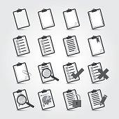 Reports icon Set