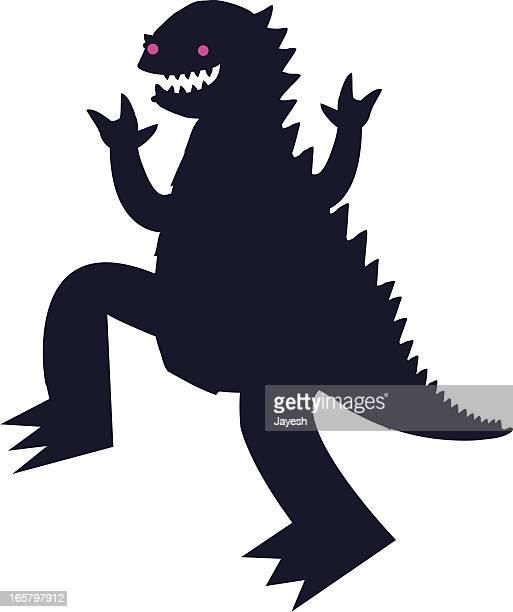 reptilian monster - reptile stock illustrations